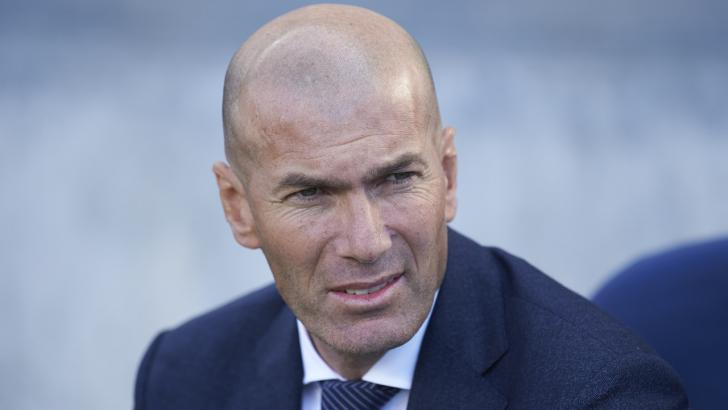 Real Madrid manager Zinedine Zidane.