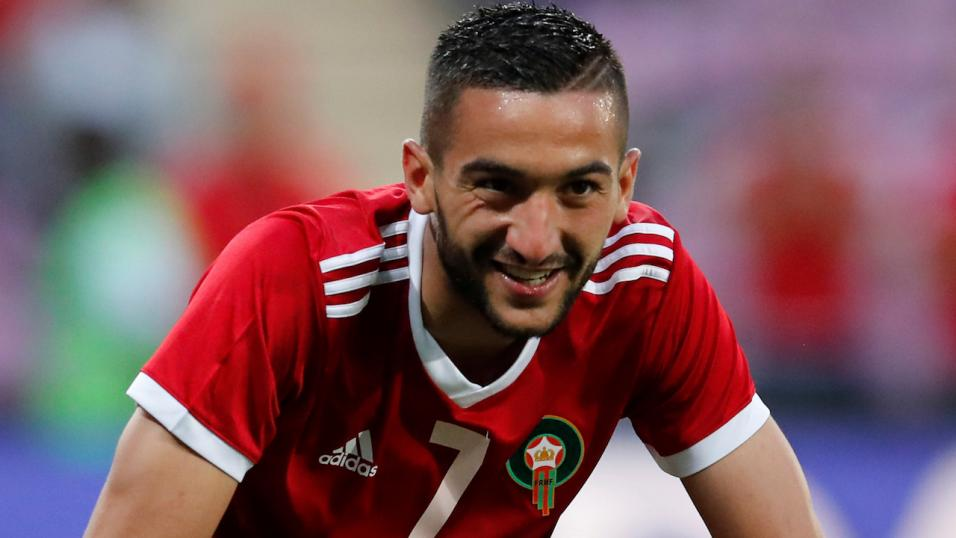 Hakim Ziyech will look to fire Morocco out of Group B this summer...