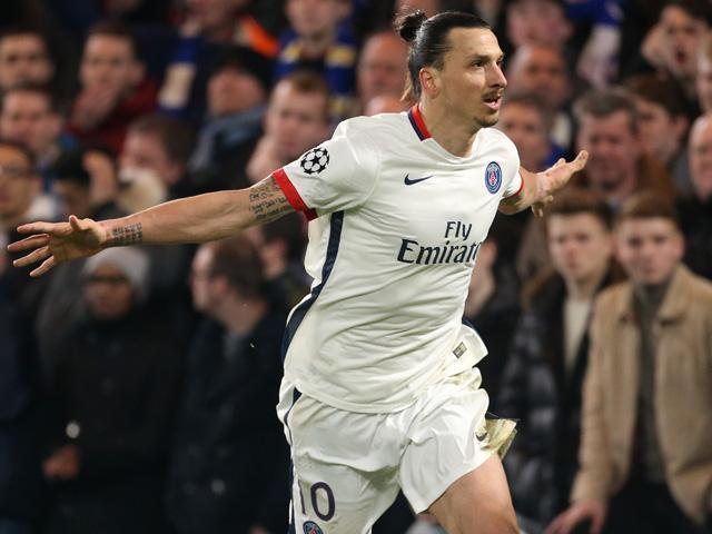 Using an image of Zlatan Ibrahimovic to illustrate the might of PSG may be unimaginative, but it is also entirely deserved