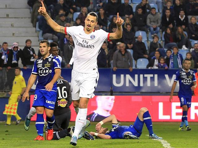 Zlatan Ibrahimovic has scored four times in his last two Paris St-Germain appearances