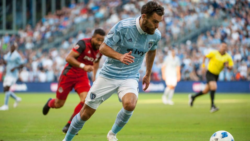 Sporting Kansas City defender Graham Zusi