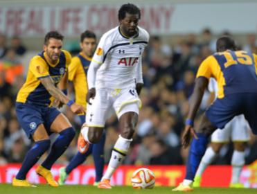 Adebayor has been linked with a move to Aston Villa this morning