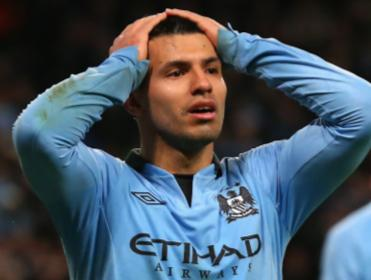 There were no frowns for Sergio Aguero today after his hat-trick saw City safely through