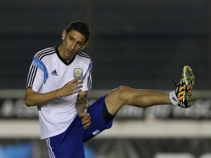 Stretching the transfer budget . . . Angel di Maria could cost £75million