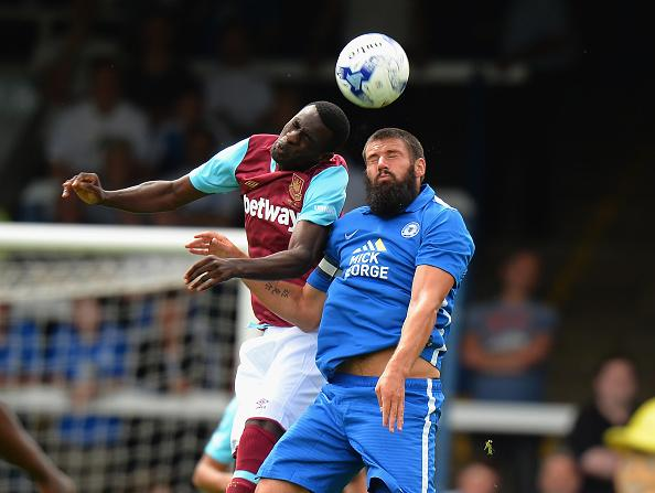 Peterborough United's bearded captain Michael Bostwick
