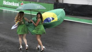 Brazilians with flag