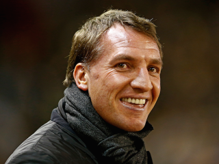 The good old days: But Liverpool's lack of goals has left Brendan Rodgers with little left to smile about
