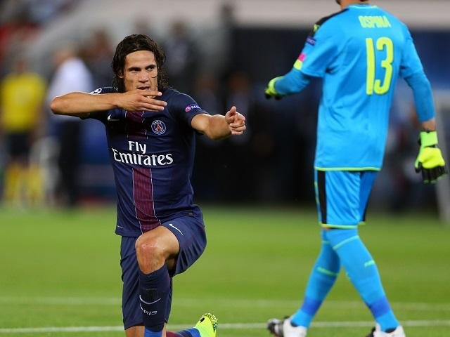 Edinson Cavani scored in the first meeting against Arsenal in September