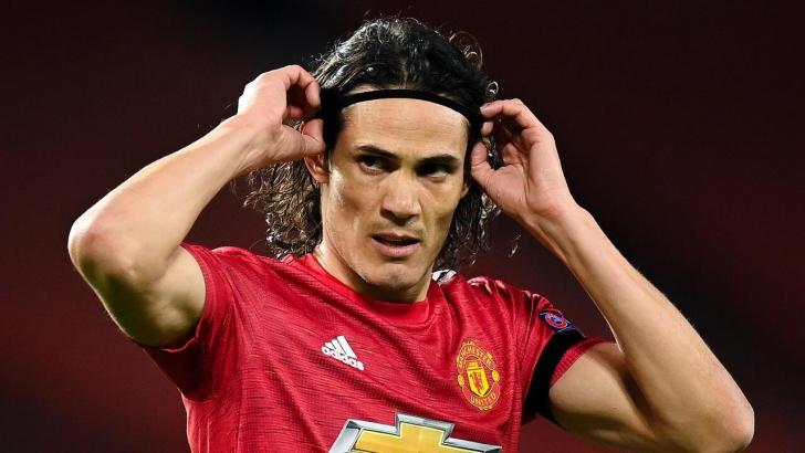 Manchester United striker Edinson Cavani
