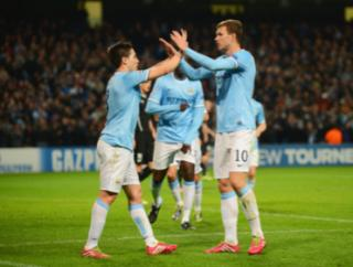 Will Samir Nasri and/or Edin Dzeko have a role to play in City's cup tie at home to Chelsea?