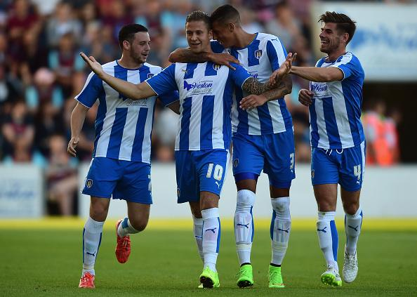 Will these Colchester United players be celebrating on Saturday?