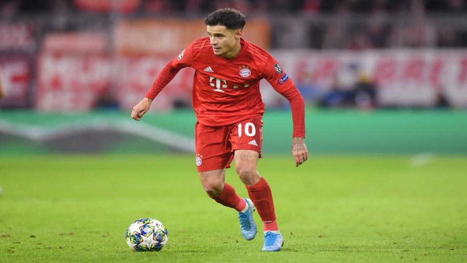 Coutinho playing for Bayern Munich