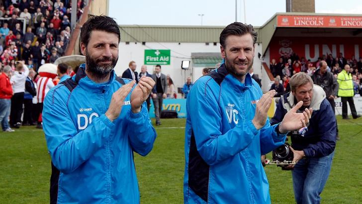 Lincoln City managers Danny and Nick Cowley