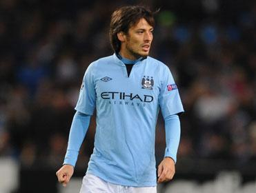 Manchester City's David Silva will pull the strings in midfield