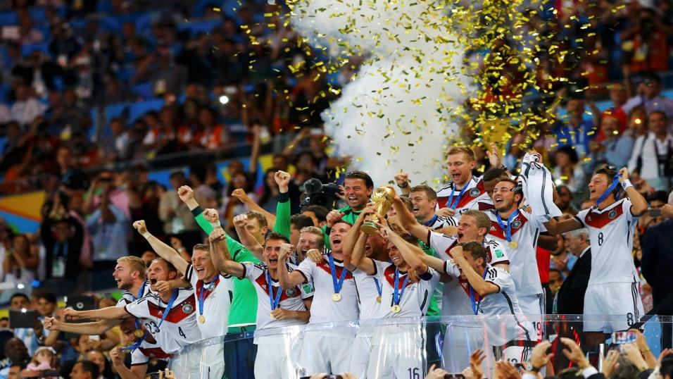 Germany celebrate their World Cup win in 2014