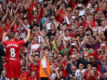 Will Steven Gerrard and the Liverpool fans be celebrating when they face Everton?