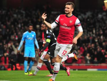 Will Olivier Giroud be celebrating an Arsenal win over Crystal Palace?