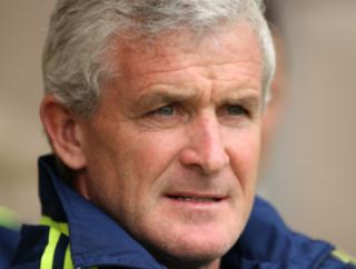 Can Mark Hughes' Stoke side win their second game of the season, when they face Leicester?