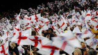 England fans waving flags