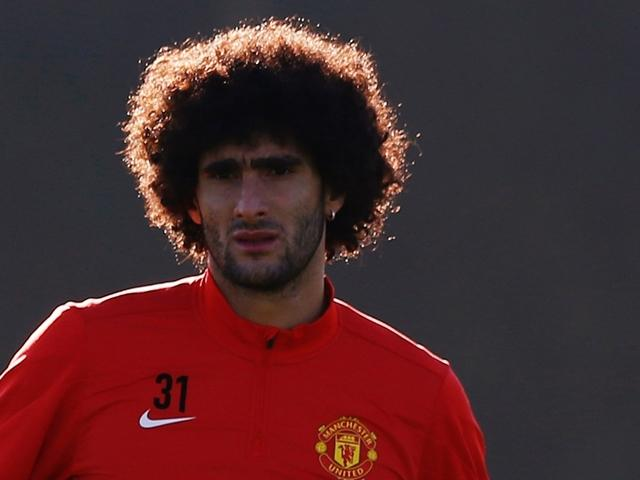 Marouane Fellaini put United 2-1 up in a pulsating game at Old Trafford