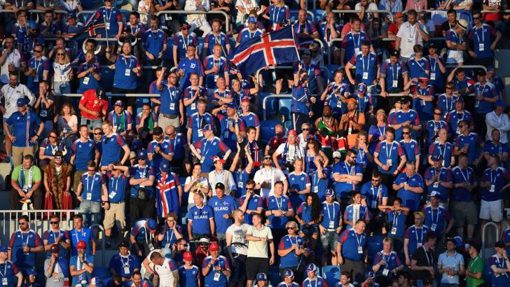 Iceland fans.