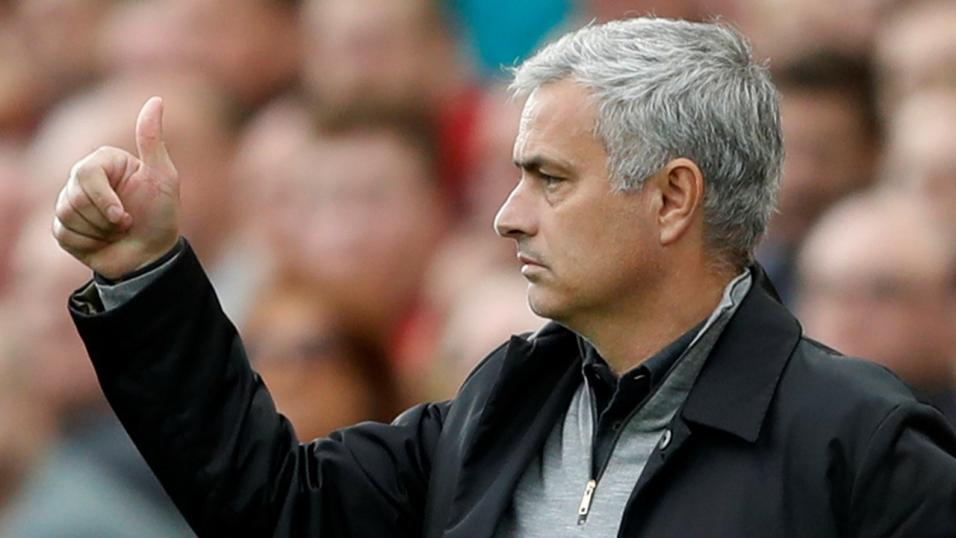 Manchester United manager Jose Mourinho faces his former club Chelsea.