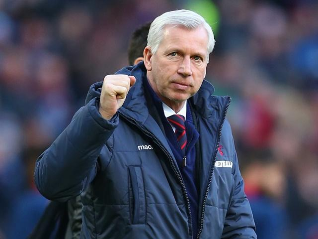 Alan Pardew's Crystal Palace are fancied to get the better of Stoke on Saturday