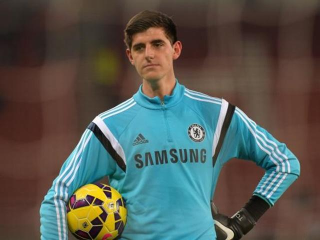 Thibaut Courtois saw red on Saturday after a poor challenge on Swansea's Gomis