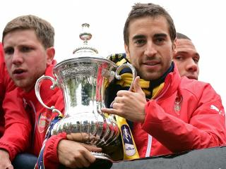 Arsenal players will be hoping to cling on to the FA Cup trophy for the third consecutive season