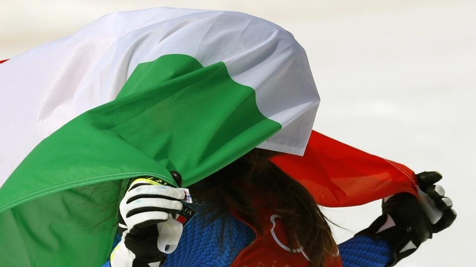 Italy football fan flag