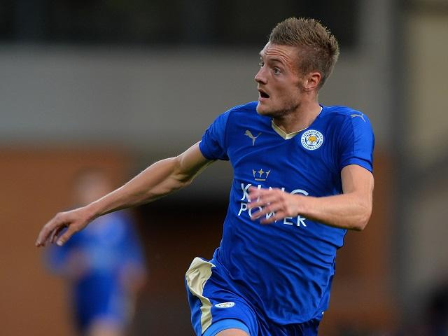 Jamie Vardy (above) will need to be at his best against Atletico