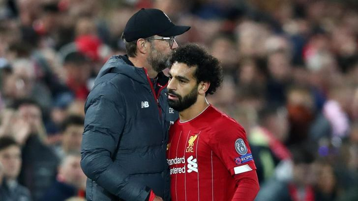 Liverpool manager Jurgen Klopp and winger Mohamed Salah