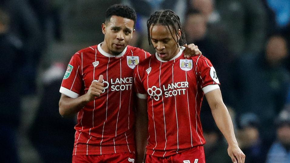 Bristol City players Korey Smith and Bobby Reid