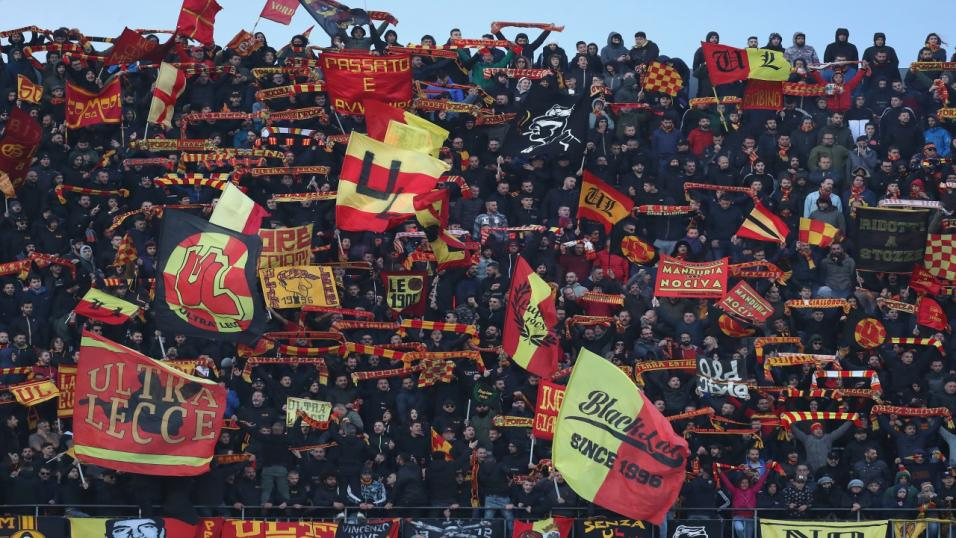 Lecce football supporters