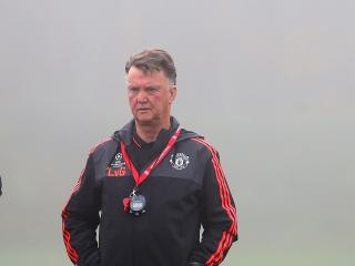 Louis Van Gaal is likely to put out a strong team against Derby with his job on the line