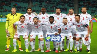 Malta's football team ahead of their clash with Azerbaijan