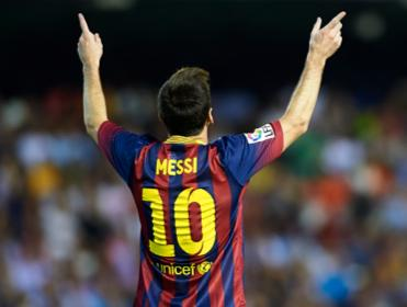 Lionel Messi won, and scored, Barcelon's penalty during his side's 0-2 win over Manchester City at the Etihad Stadium