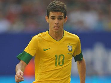 With Neymar out, Oscar must become Brazil's main man