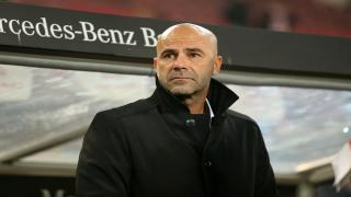 Peter Bosz is a man under pressure at Borussia Dortmund