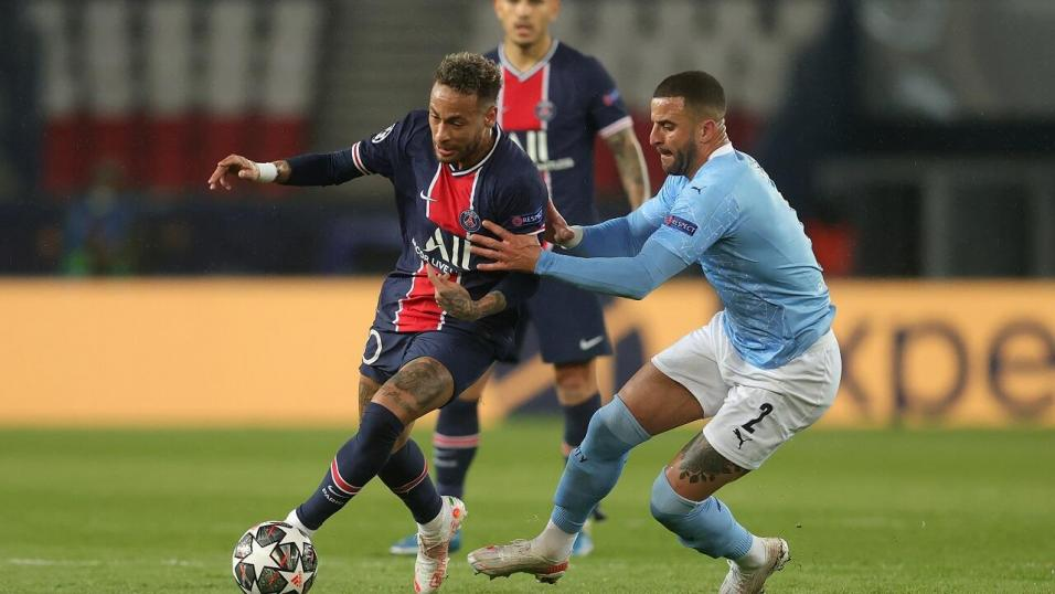 PSG and Brazil forward Neymar and Man City and England defender Kyle Walker