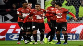 Rennes players celebrate