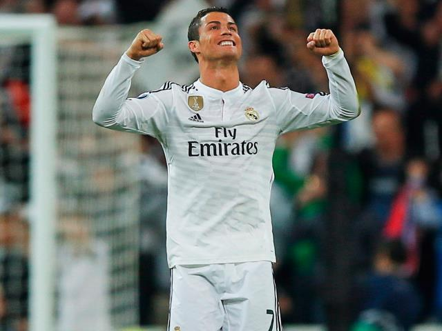 Cristiano Ronaldo celebrates after his side's winning quarter-final goal against Atletico Madrid