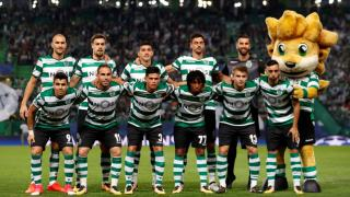 Sporting CP players before a match