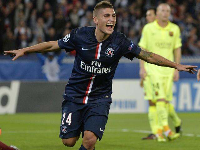 Marco Verratti was on the scoresheet when the sides met in the group phase in the autmn