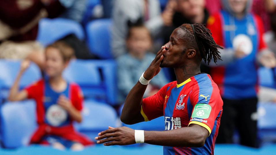 Palace forward Wilfried Zaha