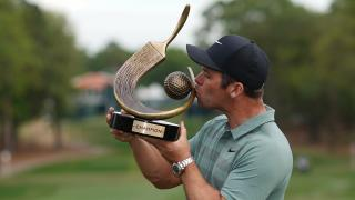 Paul Casey with the Valspar trophy