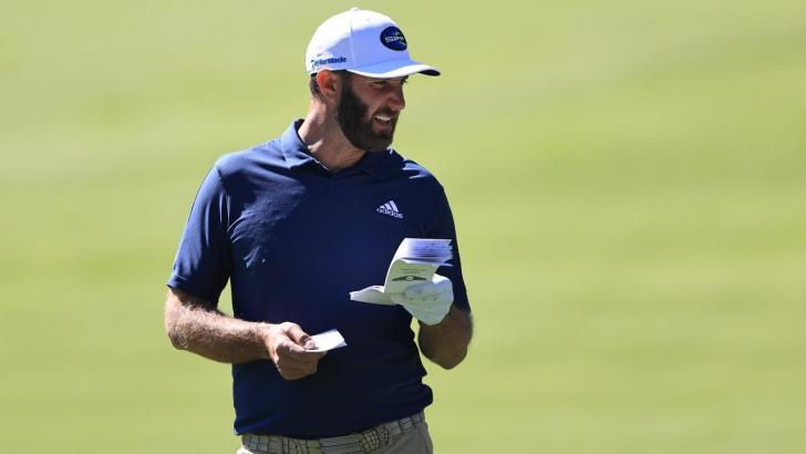 Golfer Dustin Johnson
