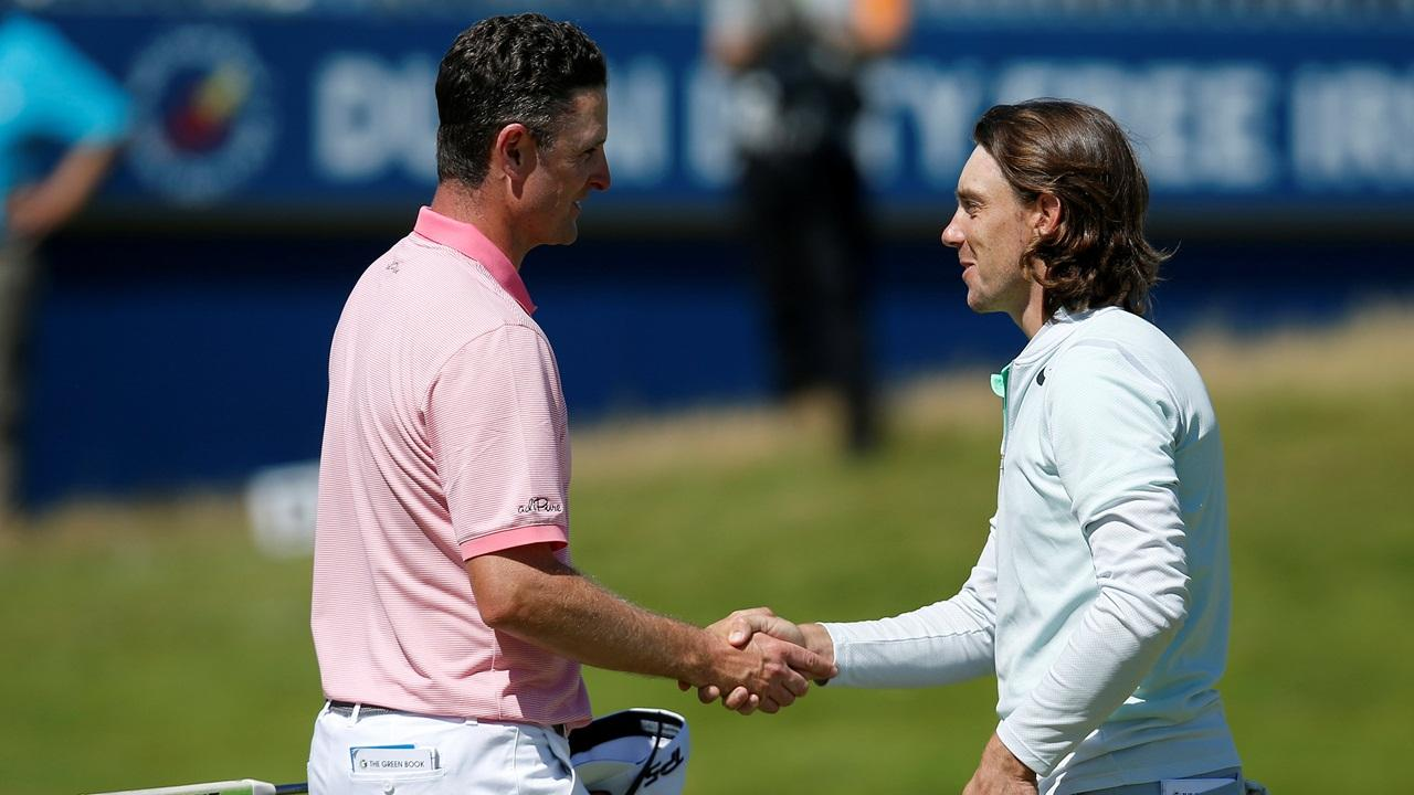 Justin Rose and Tommy Fleetwood – the two main protagonists in the R2D