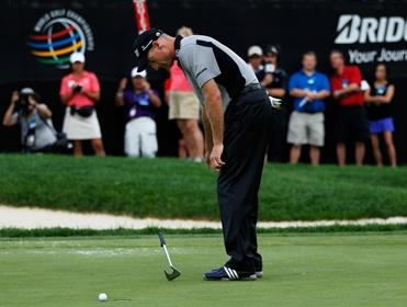 Bad memories - Furyk missing from a few feet to throw away the 2012 Ryder Cup