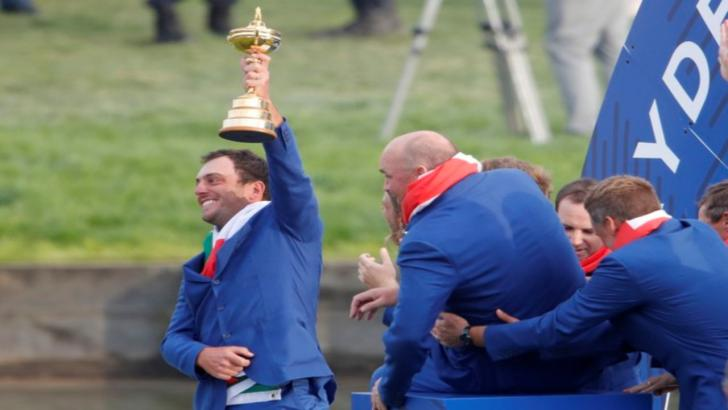 Golfer Francesco Molinari and Europe's Ryder Cup winning side